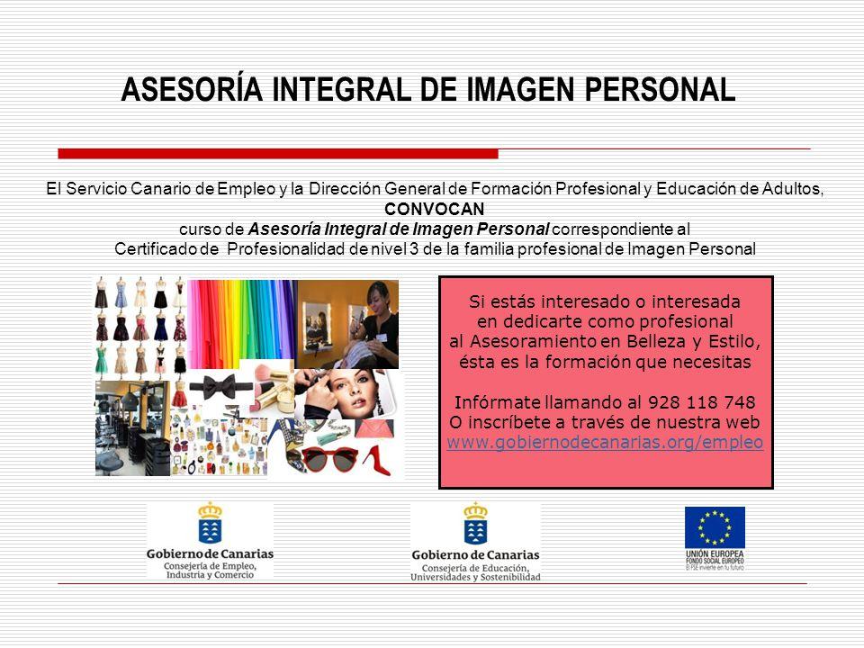 ASESORÍA INTEGRAL DE IMAGEN PERSONAL