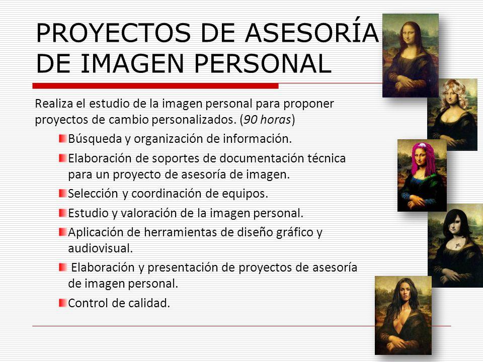 PROYECTOS DE ASESORÍA DE IMAGEN PERSONAL