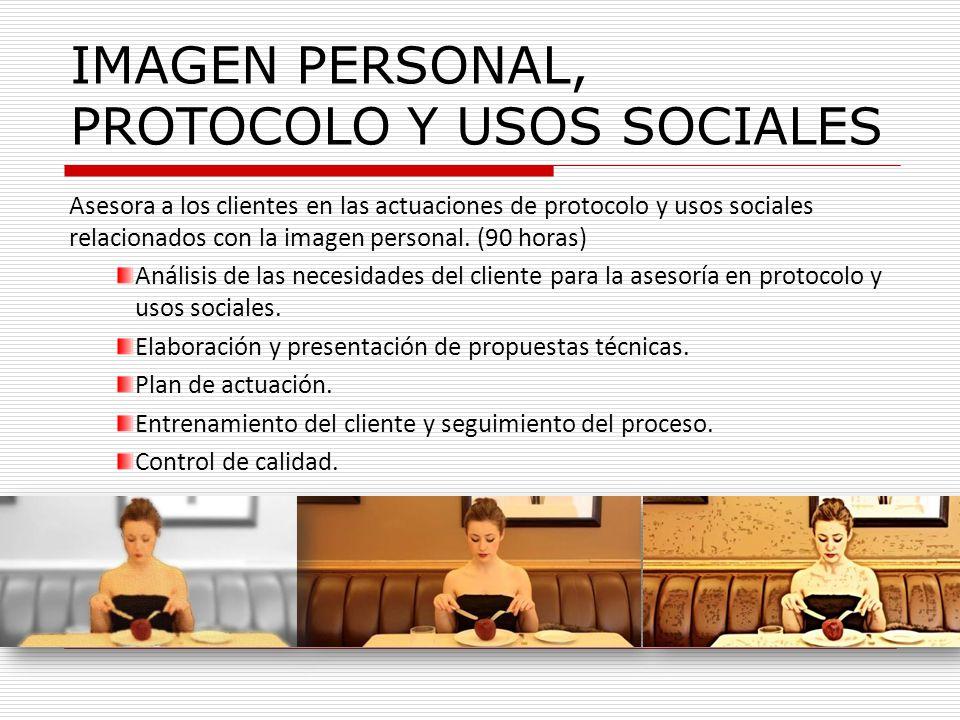 IMAGEN PERSONAL, PROTOCOLO Y USOS SOCIALES