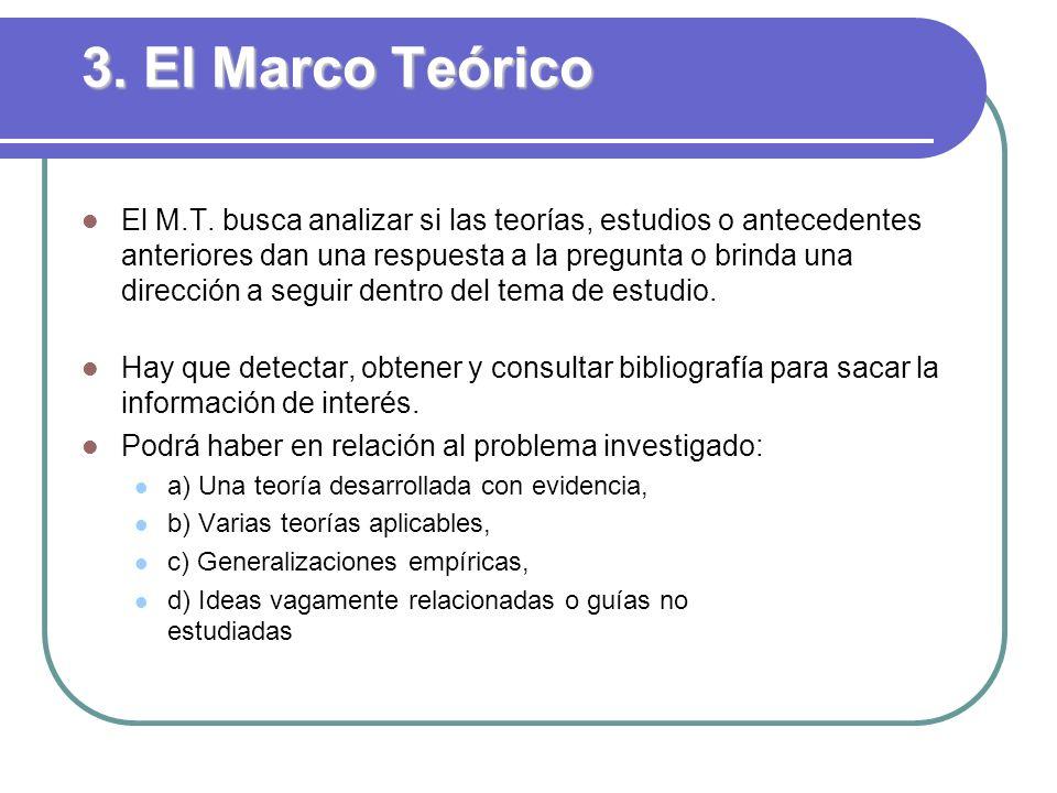 3. El Marco Teórico
