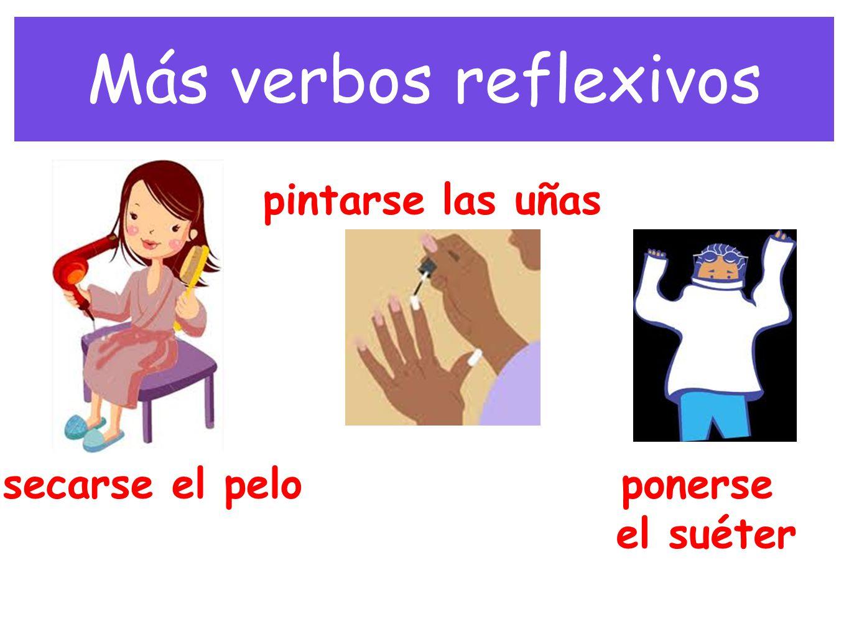 Más verbos reflexivos pintarse las uñas secarse el pelo ponerse