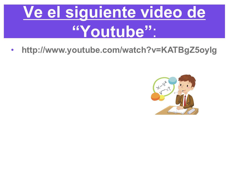 Ve el siguiente video de Youtube :