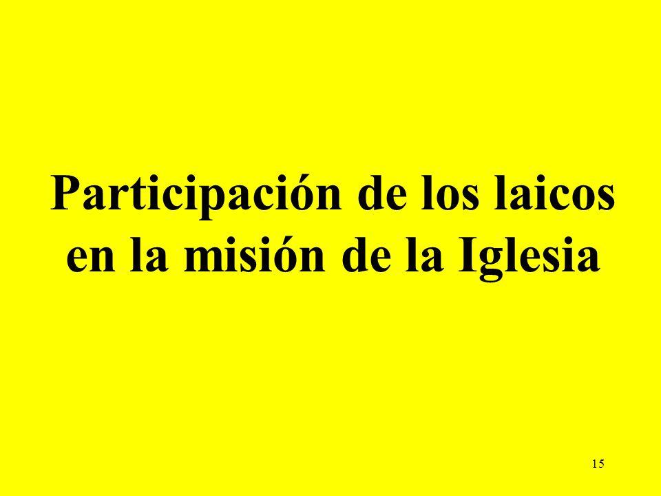 Participación de los laicos en la misión de la Iglesia
