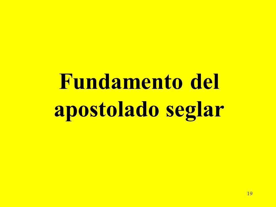 Fundamento del apostolado seglar