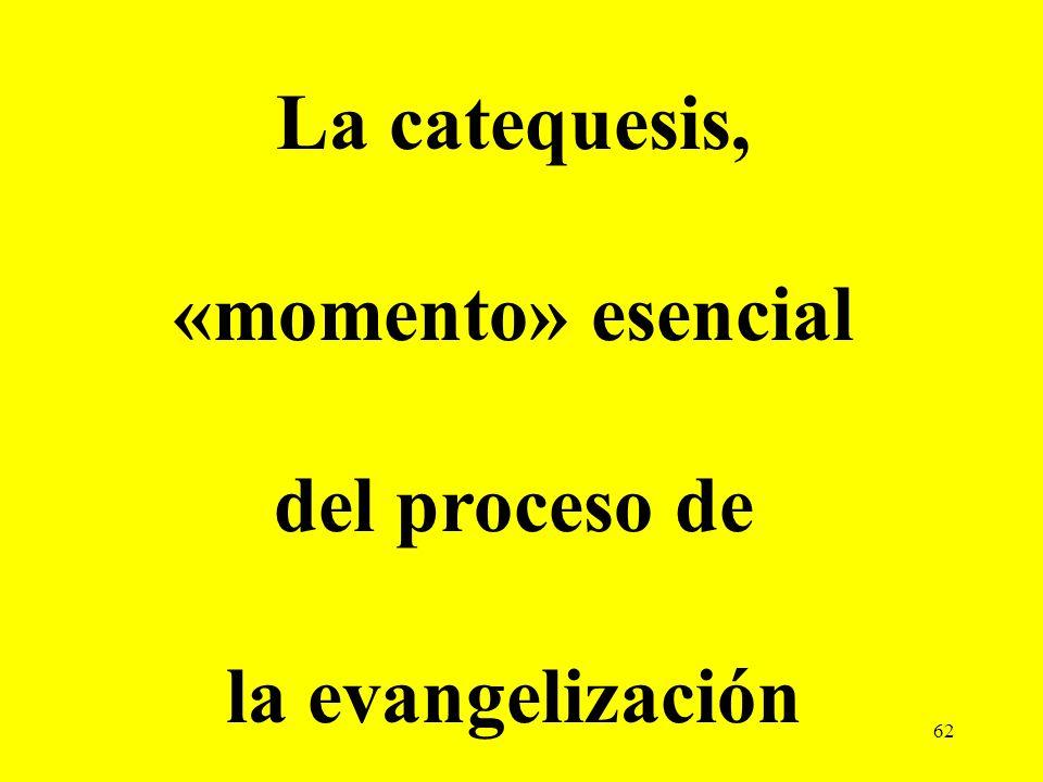 La catequesis, «momento» esencial del proceso de la evangelización