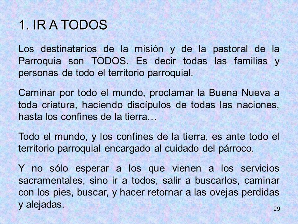 1. IR A TODOS