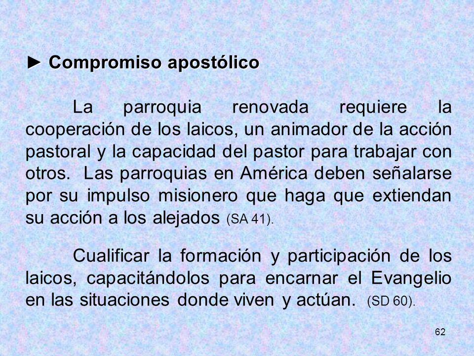 ► Compromiso apostólico