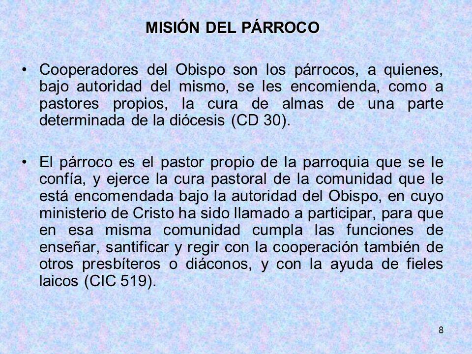 MISIÓN DEL PÁRROCO