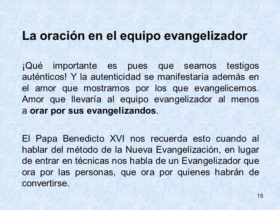 La oración en el equipo evangelizador