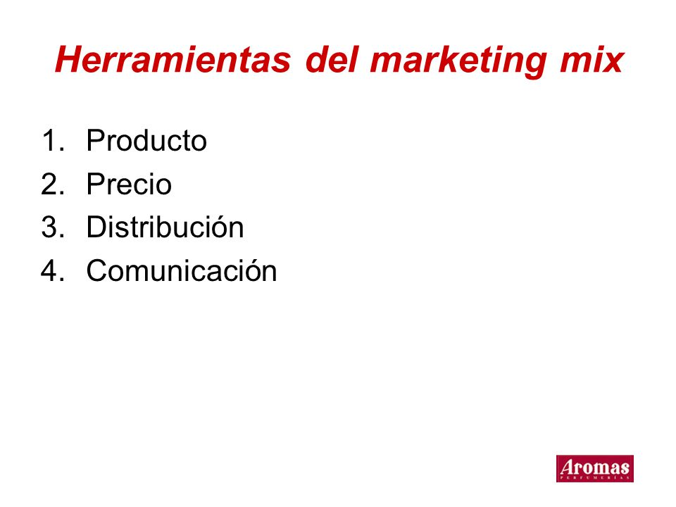 Herramientas del marketing mix