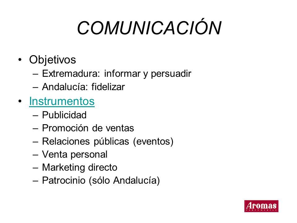 COMUNICACIÓN Objetivos Instrumentos Extremadura: informar y persuadir