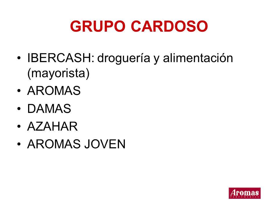 GRUPO CARDOSO IBERCASH: droguería y alimentación (mayorista) AROMAS