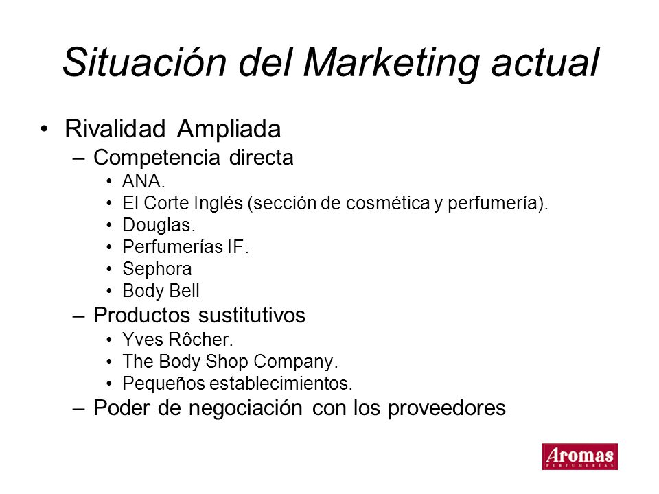 Situación del Marketing actual