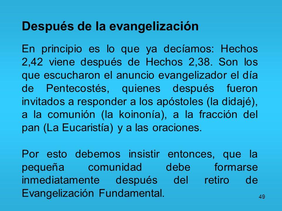 Después de la evangelización