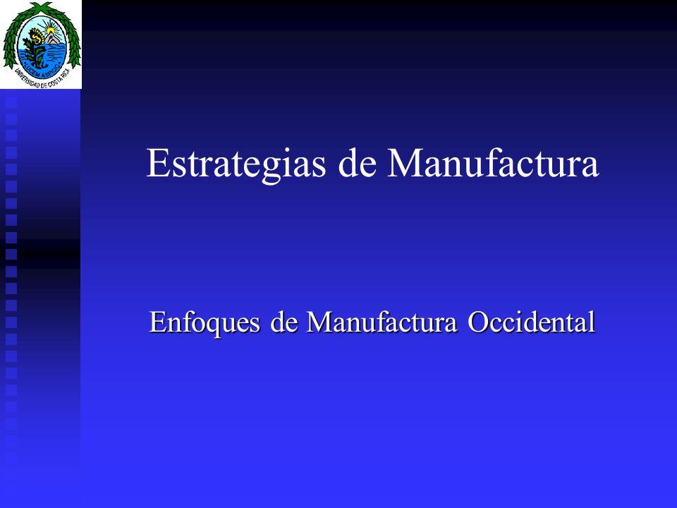 Estrategias de Manufactura
