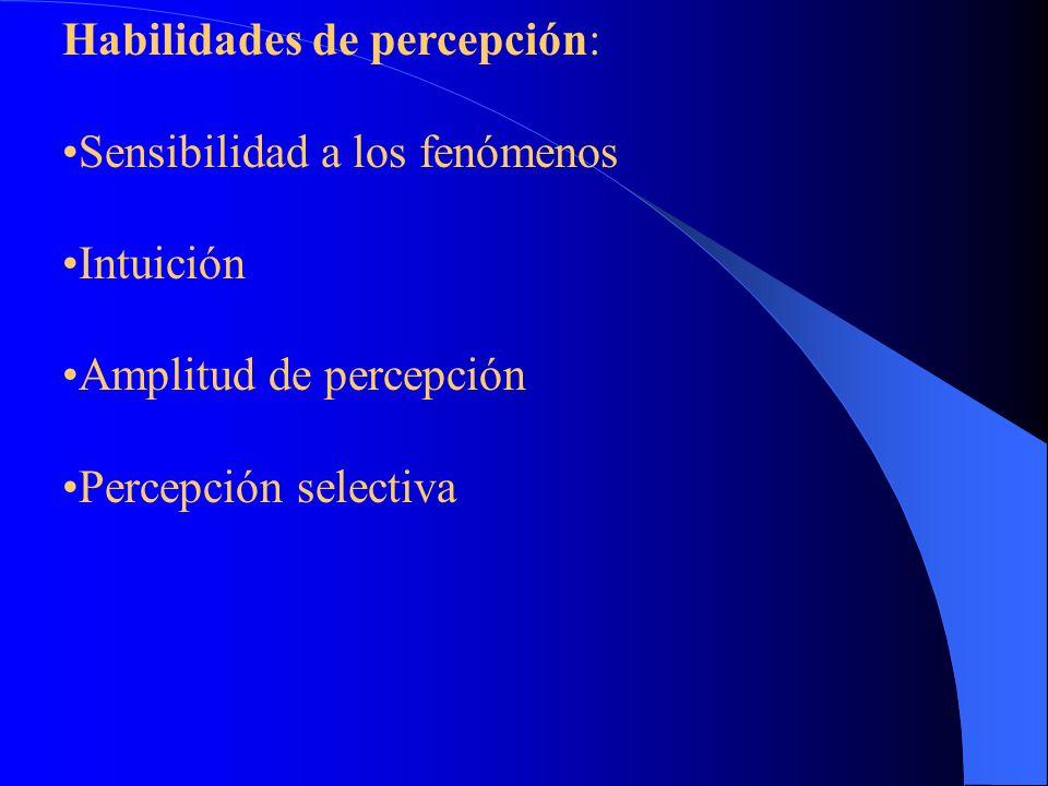 Habilidades de percepción: