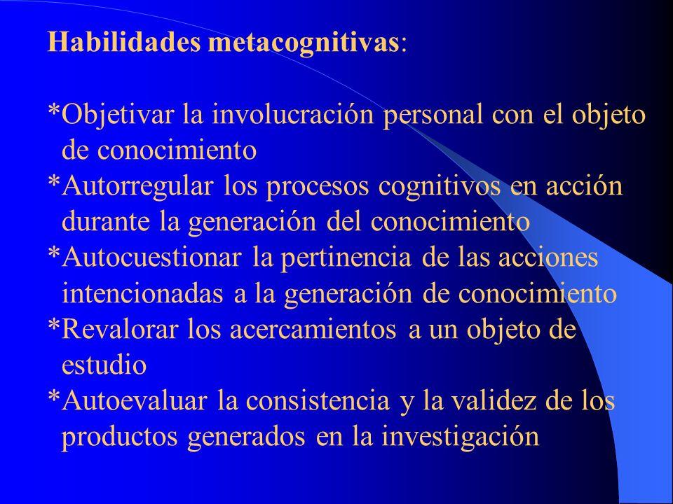 Habilidades metacognitivas: