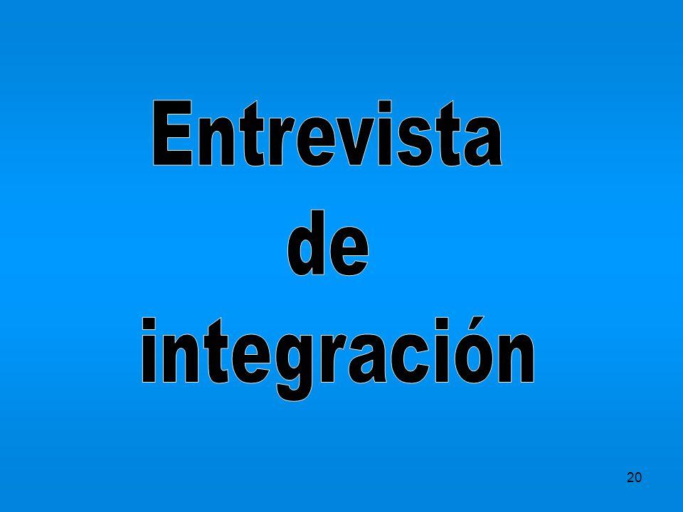 Entrevista de integración