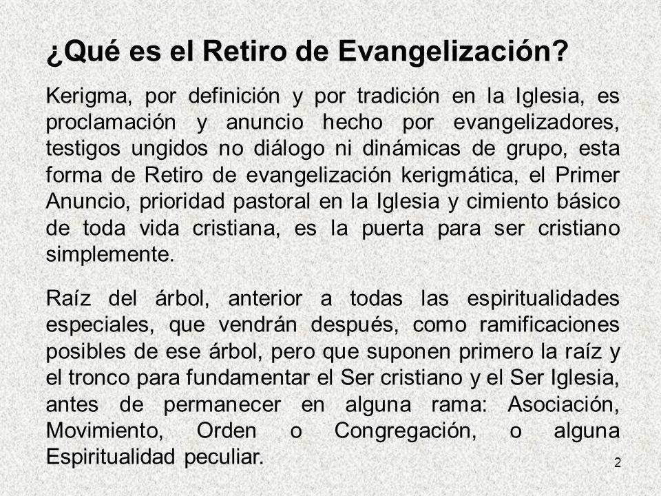 ¿Qué es el Retiro de Evangelización