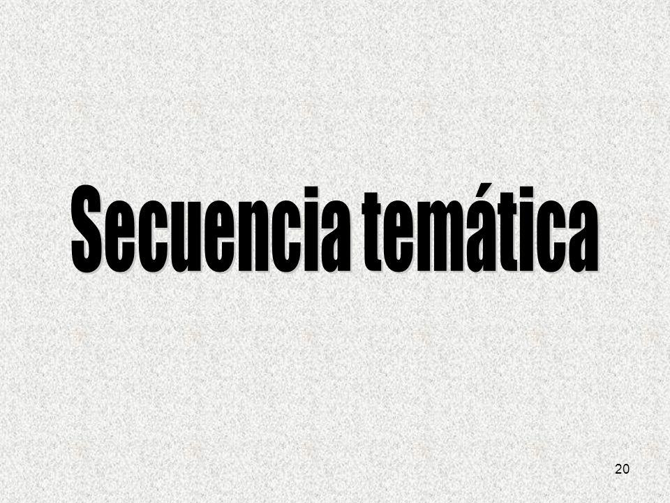 Secuencia temática 20