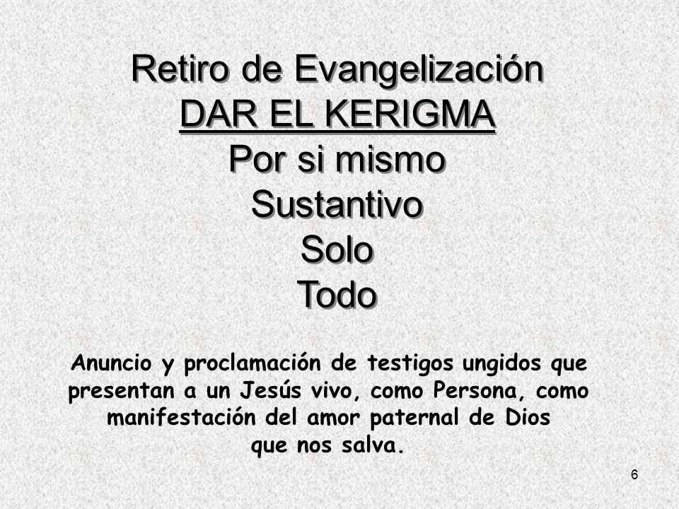 Retiro de Evangelización