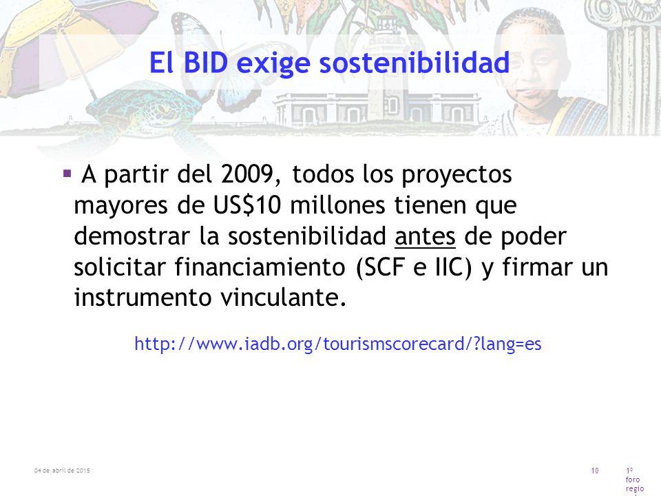 El BID exige sostenibilidad