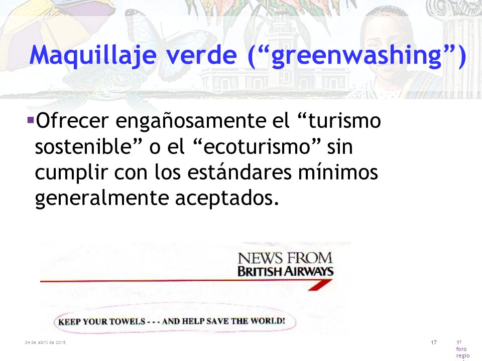 Maquillaje verde ( greenwashing )