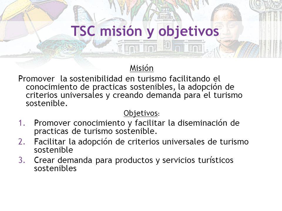 TSC misión y objetivos Misión