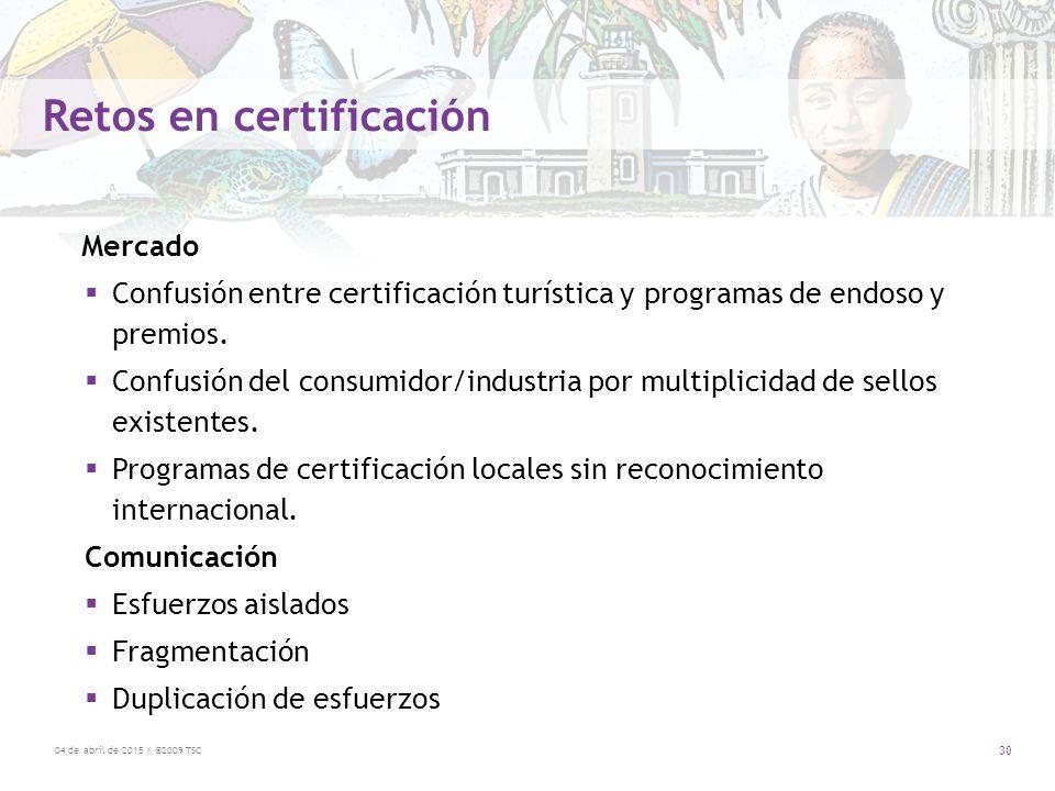 Retos en certificación