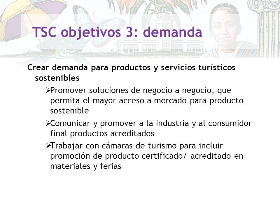 TSC objetivos 3: demanda