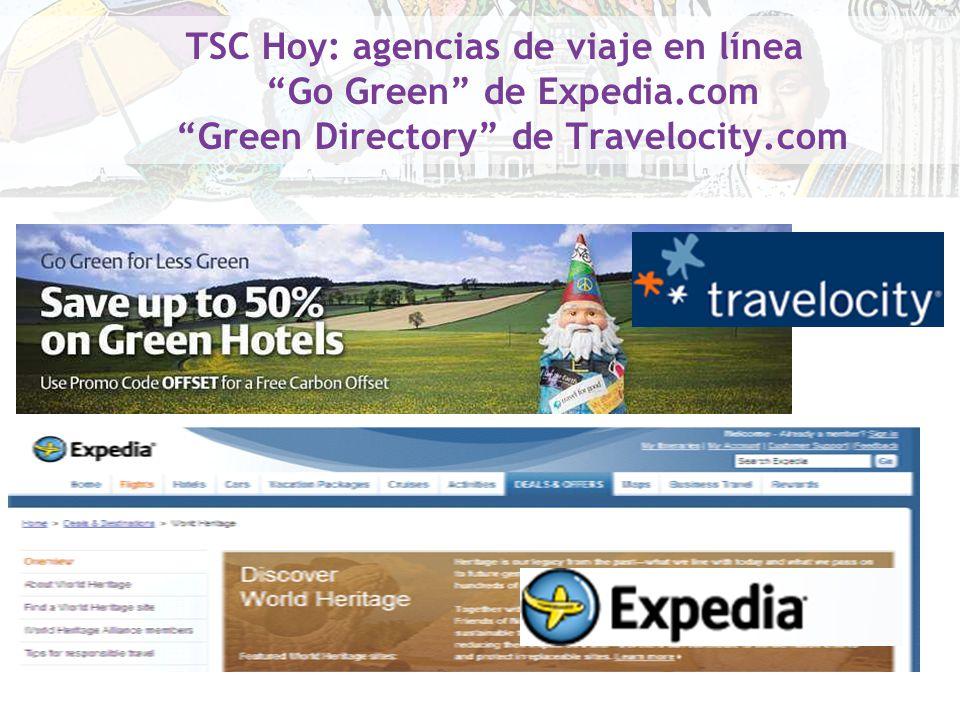 TSC Hoy: agencias de viaje en línea Go Green de Expedia