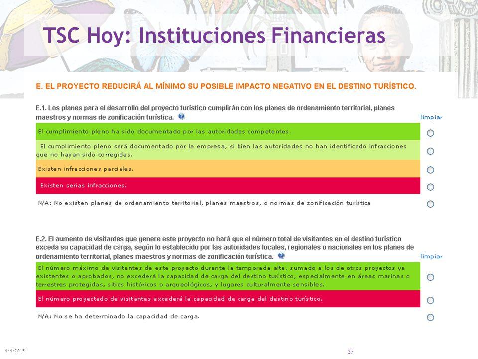 TSC Hoy: Instituciones Financieras