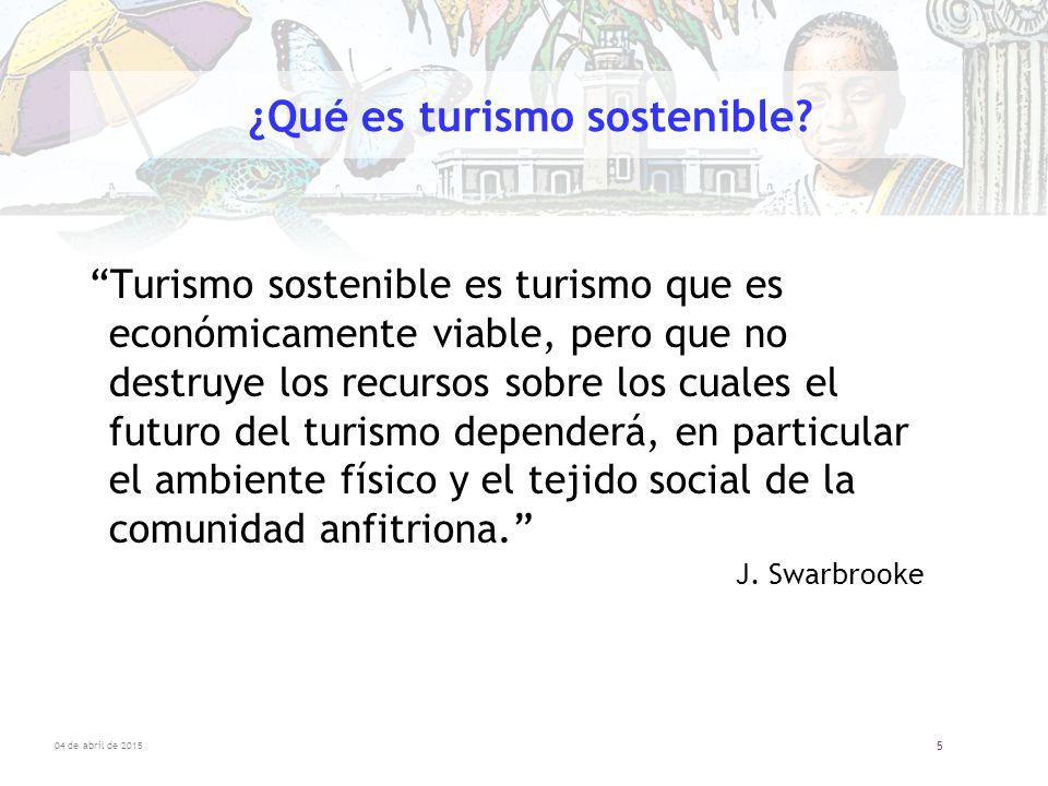 ¿Qué es turismo sostenible