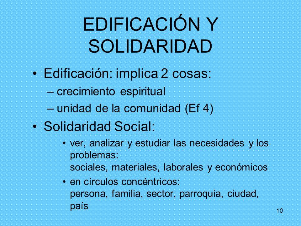 EDIFICACIÓN Y SOLIDARIDAD