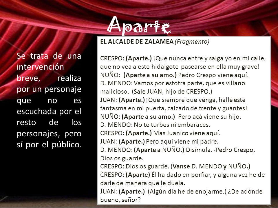 Aparte EL ALCALDE DE ZALAMEA (Fragmento)