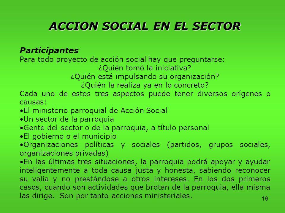 ACCION SOCIAL EN EL SECTOR