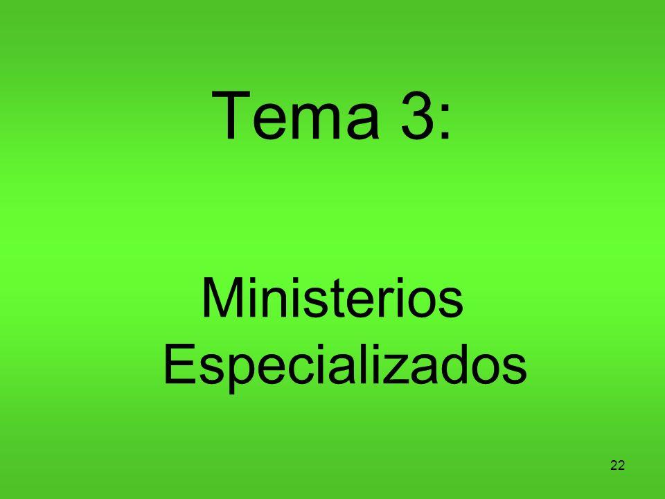 Ministerios Especializados