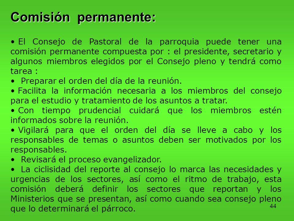 Comisión permanente: