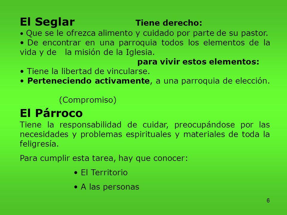 El Seglar Tiene derecho: