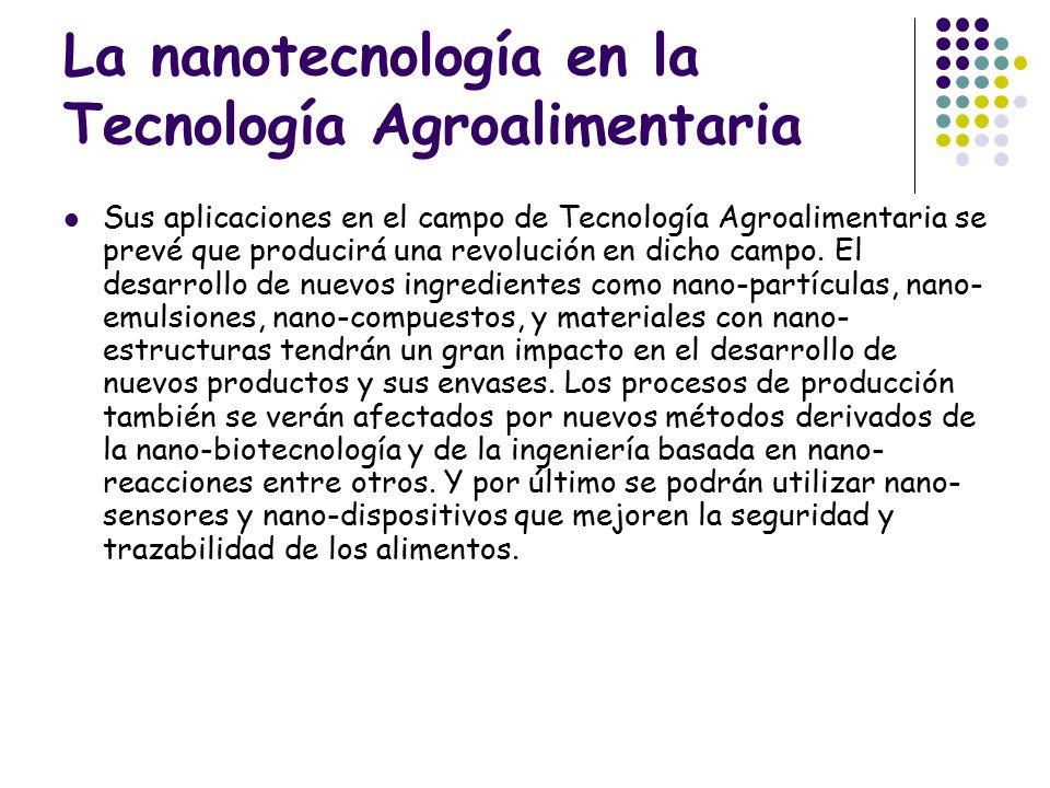 La nanotecnología en la Tecnología Agroalimentaria