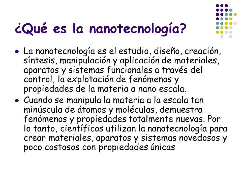 ¿Qué es la nanotecnología