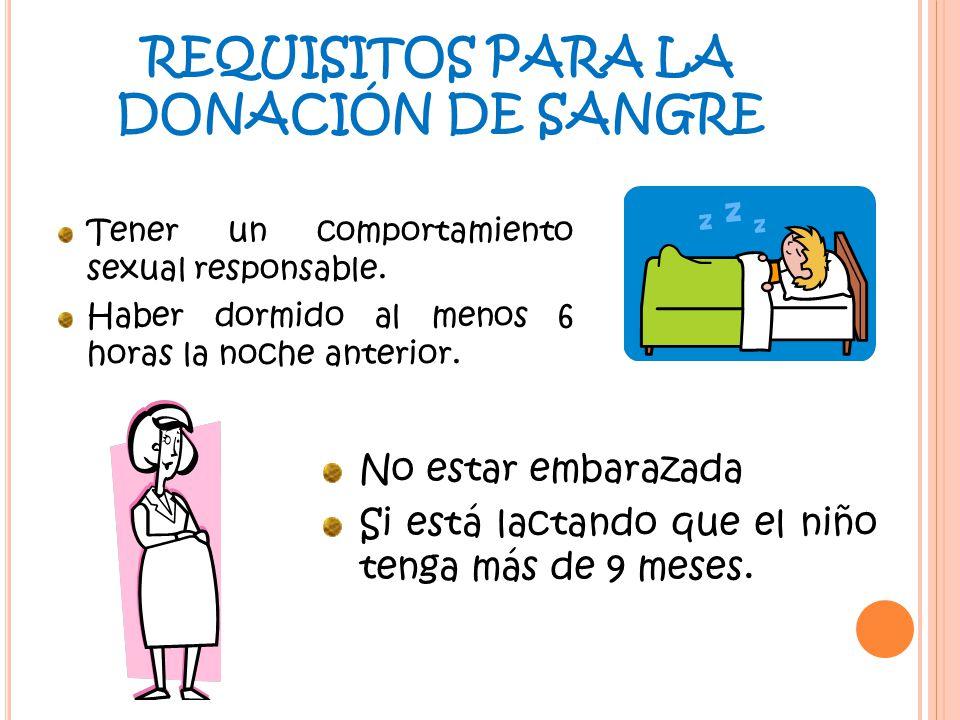 REQUISITOS PARA LA DONACIÓN DE SANGRE