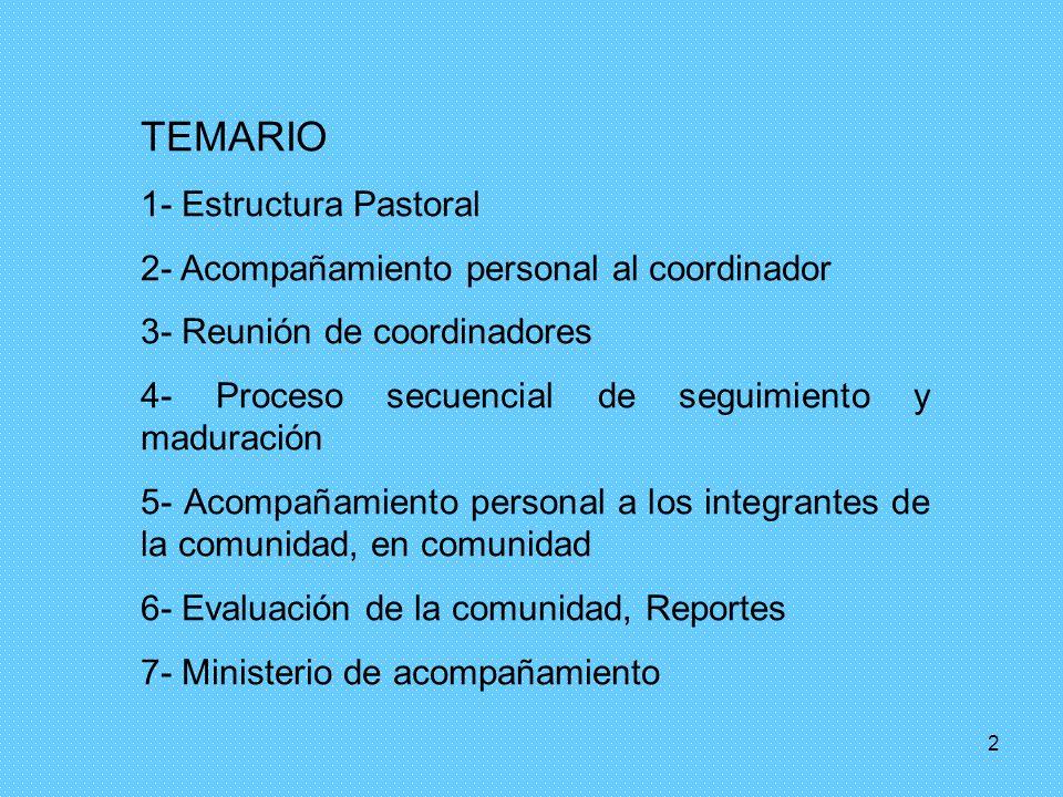 TEMARIO 1- Estructura Pastoral
