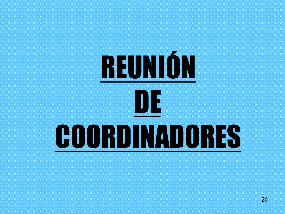 REUNIÓN DE COORDINADORES 20