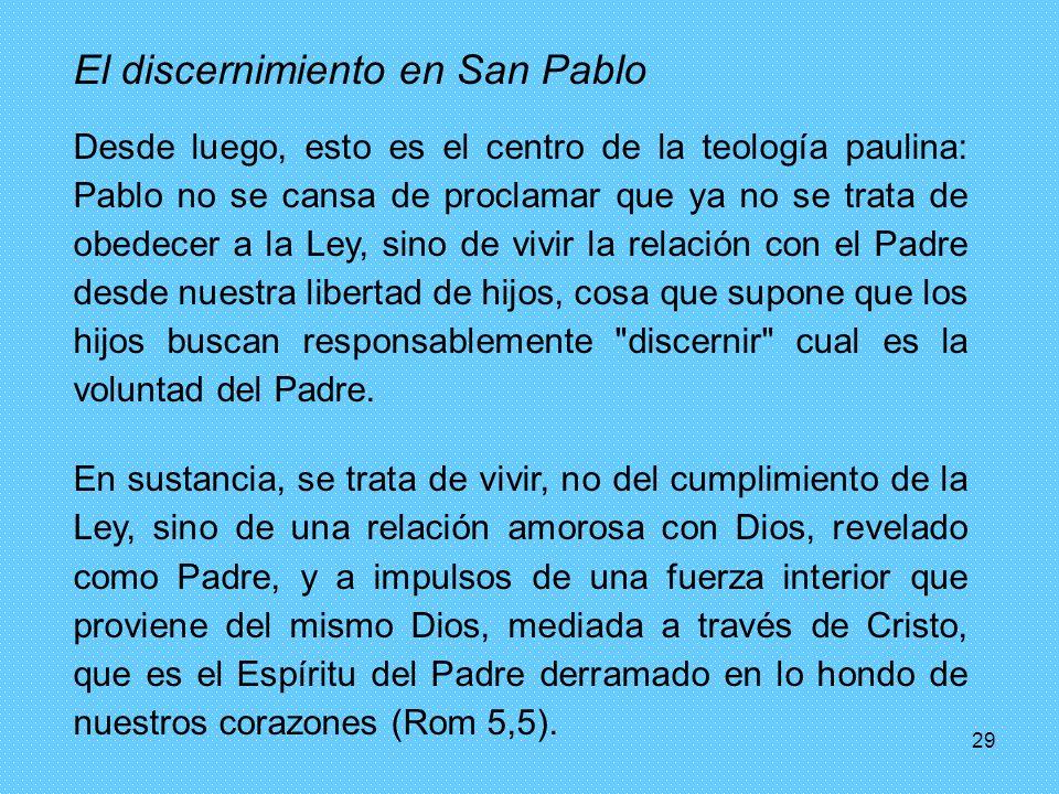 El discernimiento en San Pablo