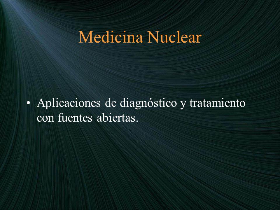 Medicina Nuclear Aplicaciones de diagnóstico y tratamiento con fuentes abiertas.