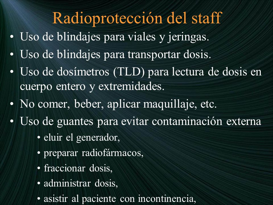 Radioprotección del staff