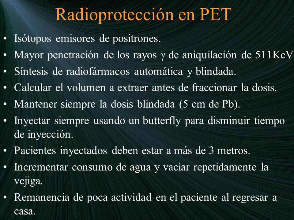 Radioprotección en PET