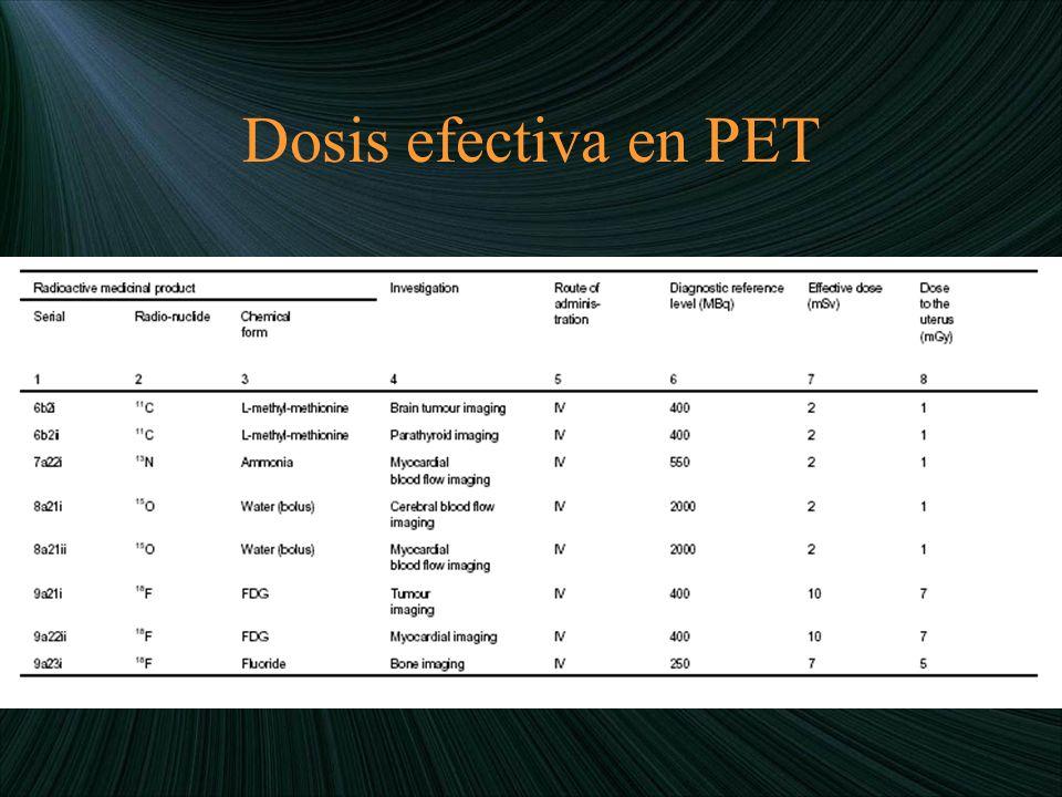Dosis efectiva en PET