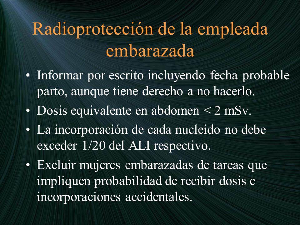 Radioprotección de la empleada embarazada